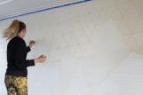 Cutting tape to make 3d pattern