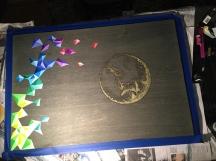 post-gold leaf sealer, pre-varnish (keeping the shadow line matte)