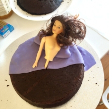 cut it and throw it over a cake, use leftovers to make pillow, add nudie torso